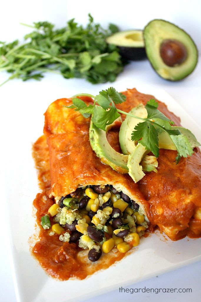 The Garden Grazer: Black Bean Avocado Enchiladas :)