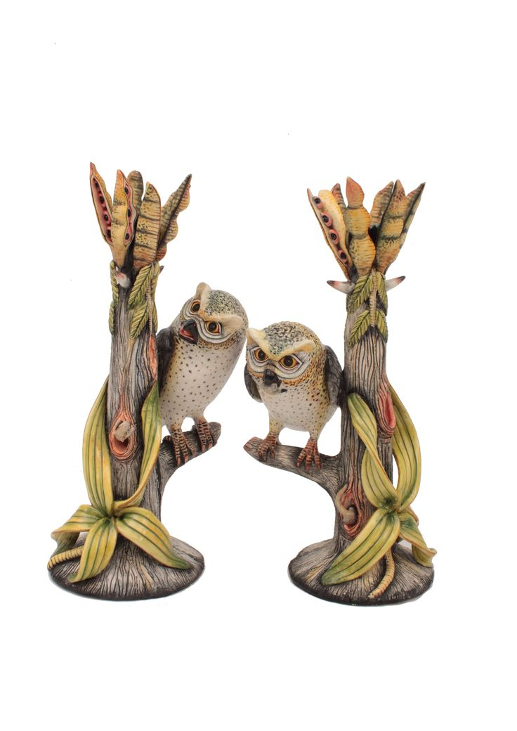 Ardmore Owl Candle Holders