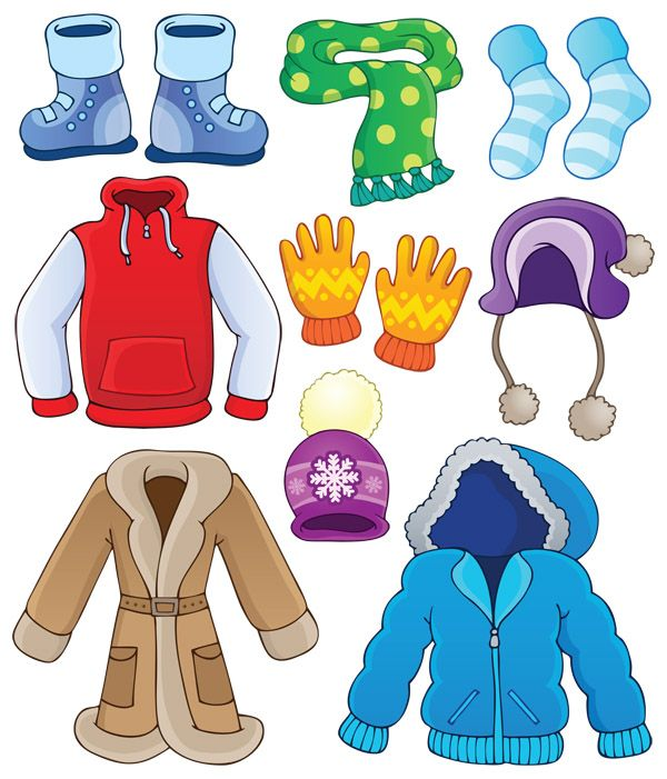 Зимняя одежда, Наглядное пособие, для детей, одежда, дидактические карточки
