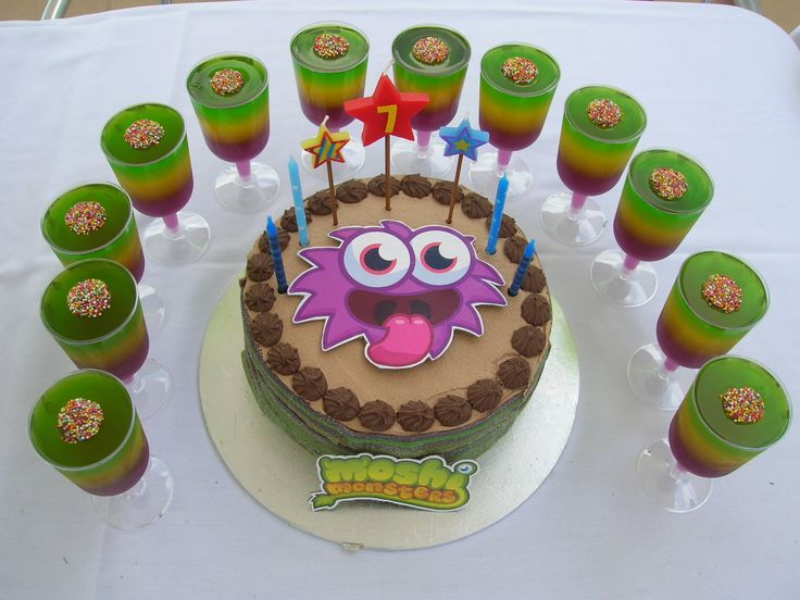 Moshi Monster cake for 7th Birthday