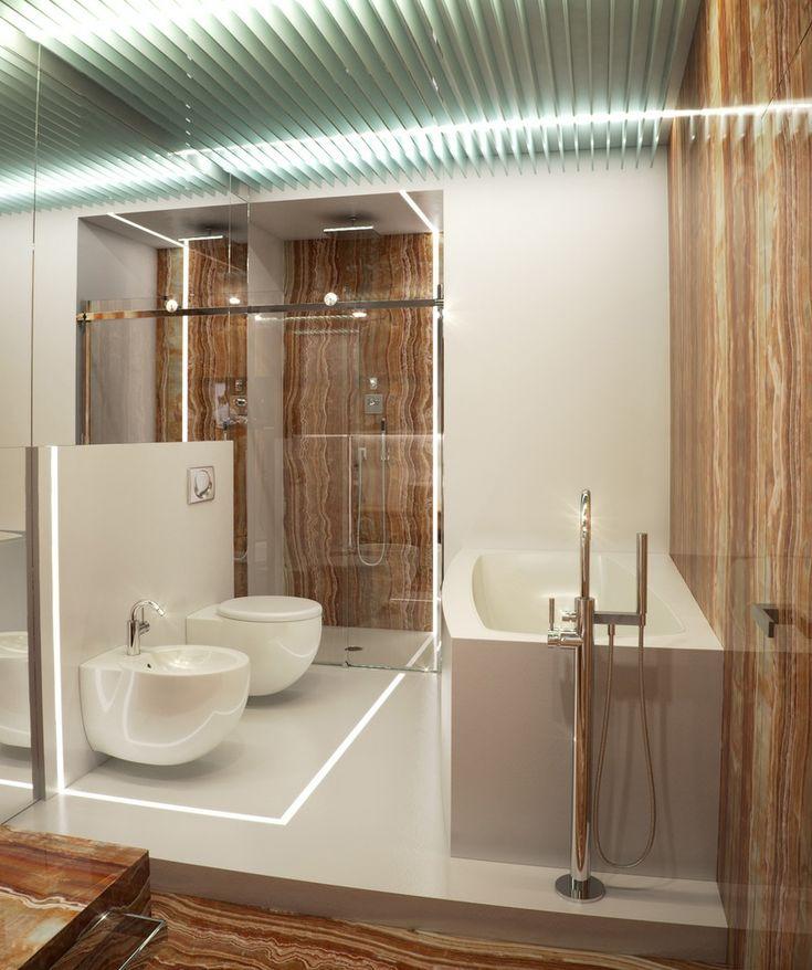 Alexander Lysak Visualization- sedimentary layered marble bathroom with bide
