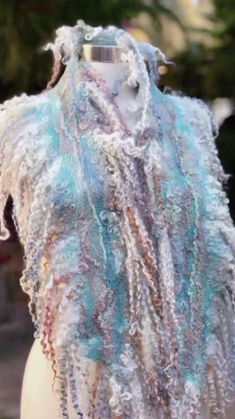 knitting scarf women