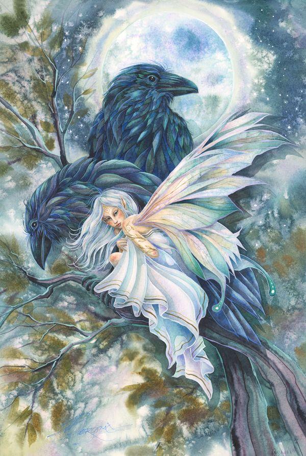 Fairy Art Original Paintings Decorative Elements Happy Bird