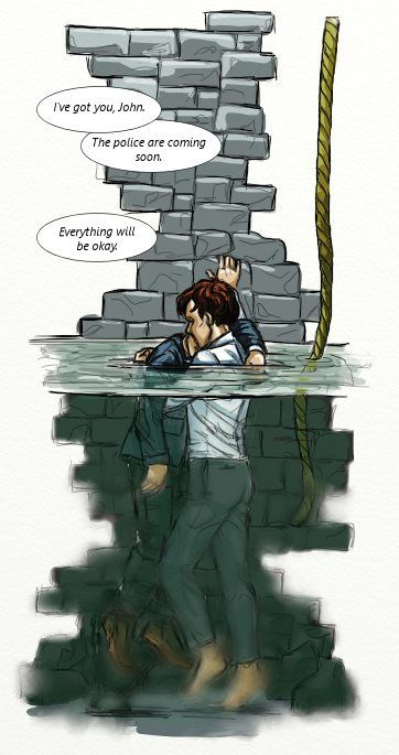 "sturfadurf: "" This is the part they didn't show you in The Final Problem. That rope was for Sherlock to climb down into the well to John. John had been struggling to keep his head clear of the water for a good while, and he was getting exhausted;..."