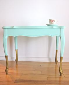 distressed mint and navy futniture - Google Search