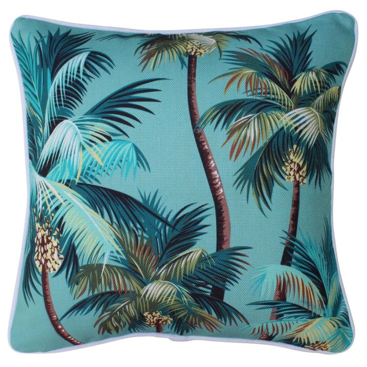 Outdoor cushion in palm trees lagoon (various sizes) | hardtofind.