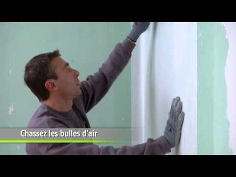 Comment poser du papier intissé - Etape par étape - Bricolage - YouTube
