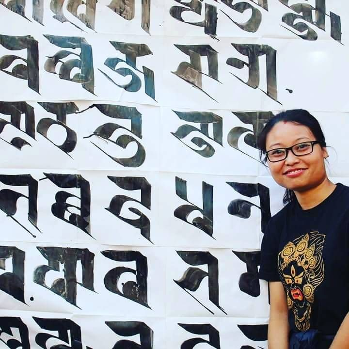 my passion ✍️ and my love ,,, Ranjana script calligraphy