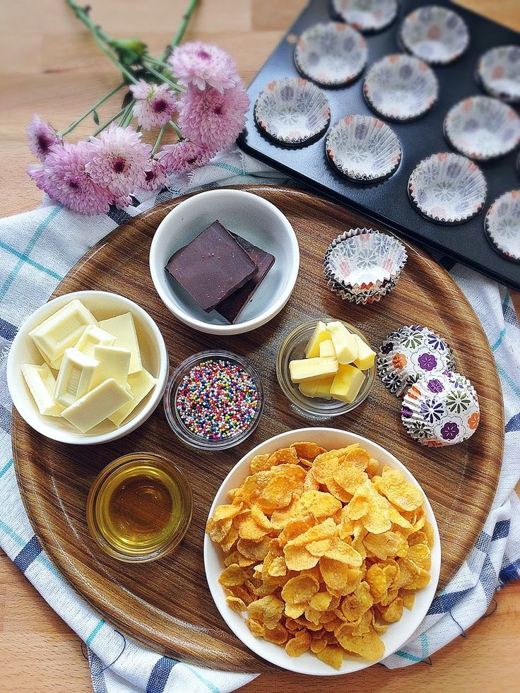 Cuisine Paradise   Singapore Food Blog   Recipes, Reviews And Travel: Selamat Hari Raya with Chocolate Cornflake Cups vs Oatmeal & Dates Cookies - Ingredients for Chocolate Cornflake Cups
