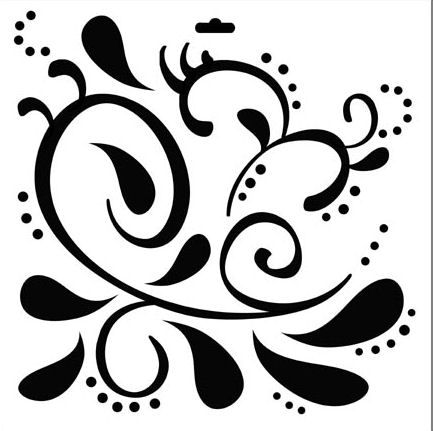 A stencil template for use with paint ink ink sprays portfolio pastels chalks texture paste gold leaf for creating backgrounds suitable for