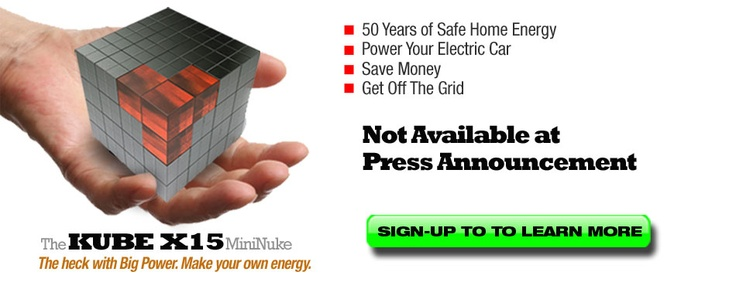 Get off the grid with home nuclear generator :) Includes plutonium.