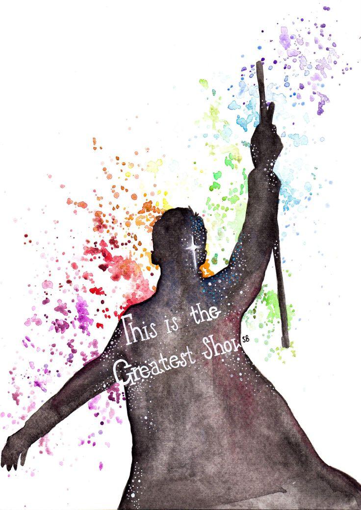 The Greatest Showman watercolour   @seb_artpage Instagram