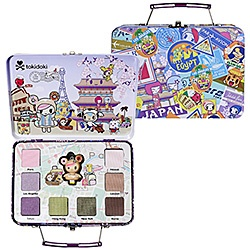 What it is:A palette with eight eye shadows in a charmingly decorated mini-suitcase. What it does:Whether you prefer to travel by plane, boat, or train, the tokidoki characters will take you around the world with this playful palette. The collection