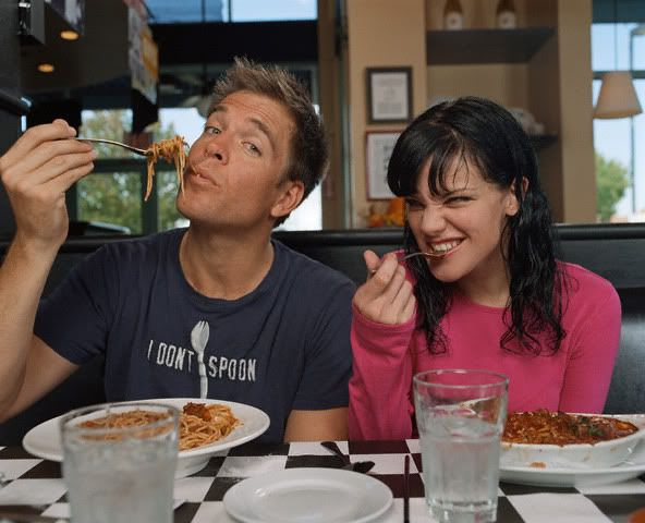 Tony and Abby from NCIS - Cast Behind the Scenes