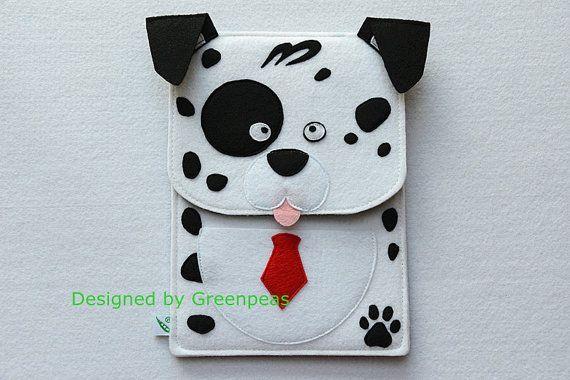 GP Animal Family Cute Dalmatian Dog Felt iPad by GreenpeasHandmade, $28.00