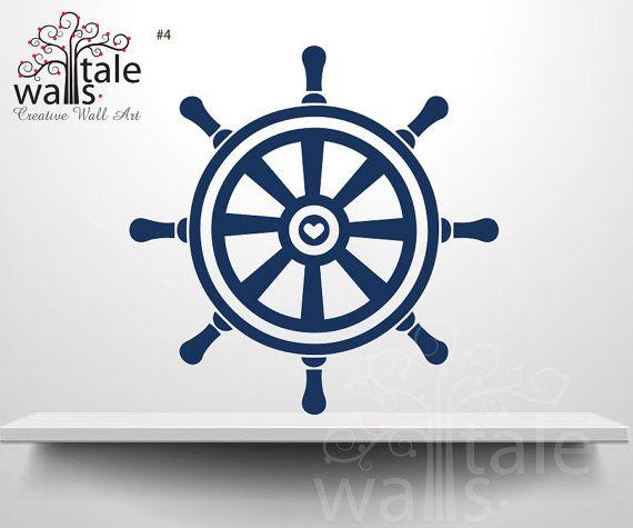 Ships Wheel Nautical Wall Decal sailor by nauticalnurserydecal, $9.00