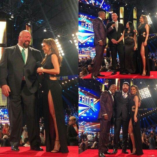 Maria Menounos, Big Show, Sheamus, Randy Orton, Kim
