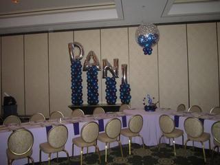 carousel pony ballon column | ... letters description bat mitzvah tags bat mitzvah balloons letters name