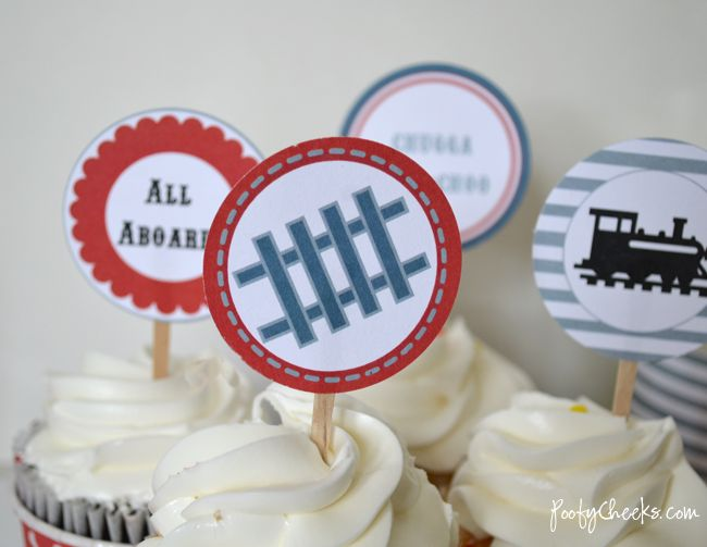free train party printables - these were the ones we used at Atticus 3rd birthday party.