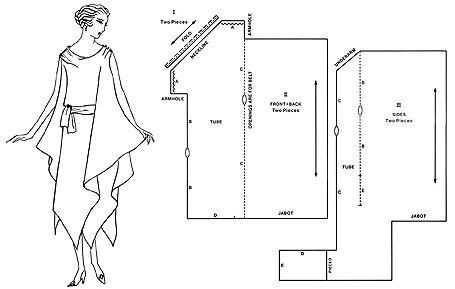 Vestido de Vionnet. Cortado al hilo y cosido al bies, lo que hace que los vestidos de Vionnet funcionen de manera tan brillante.