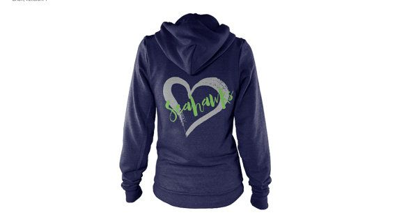 Women's Football Season Seahawks Hoodie | Seattle Football Jacket | Favorite Team Sweatshirt | Sunday Hoodie