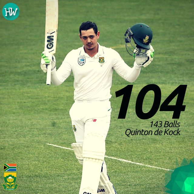 Another day, another century for Quinton de Kock. A wonderful knock by the young lad! #AUSvSA #AUS #SA #cricket
