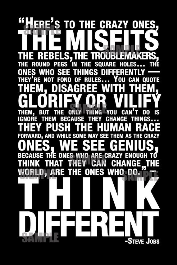 Steve Jobs quote Subway Poster by jennygreekedesigns on Etsy, $58.00