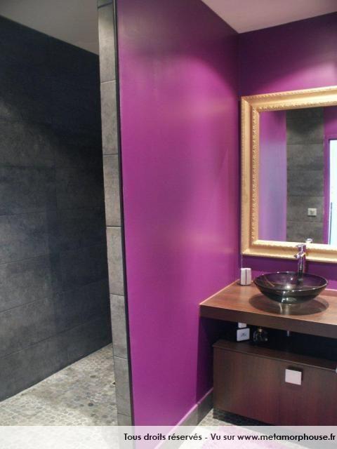 1000 id es sur le th me salles de bains violettes sur for Salle de bain gris et prune