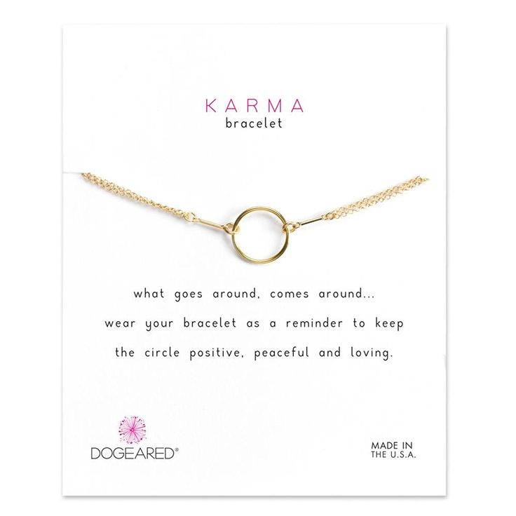 Dogeared Gold Dipped Classic Original Karma Carded Boxed Bracelet ** You can find more details by visiting the image link. (This is an Amazon Affiliate link and I receive a commission for the sales)