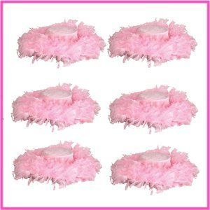 70803e3e5e5 Pink Feather Tea Party Hat Assortment (6 pc) by RIN.  24.99. Party dressup  item. Great for tea party Dress up