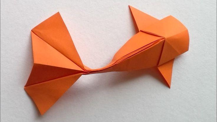 How to make an Origami Koi Fish Easy Oragami, Origami Fish Easy, Instruções Origami, Origami Videos, How To Make Origami, Origami Folding, Paper Crafts Origami, Origami Stars, Origami Flowers