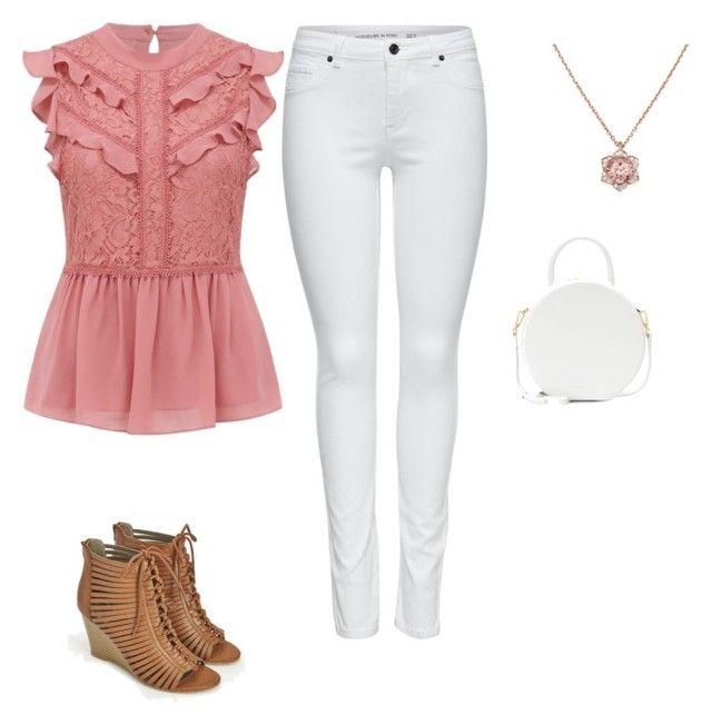 """""""Pinkish"""" by skylarmuffin on Polyvore featuring M&Co, JustFab and Mansur Gavriel"""