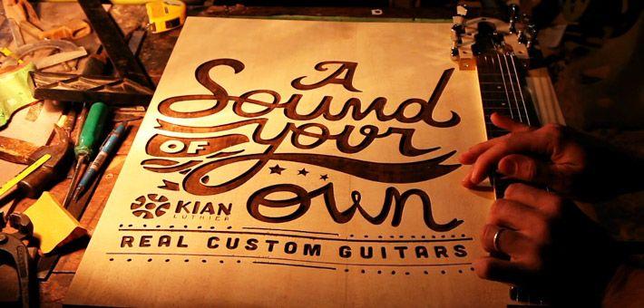 """The Guitar Poster"" – Ένα μοναδικό μουσικό project απο την Kian. Μια μουσική αφίσα!"