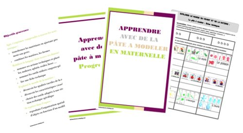 la pâte à modeler en maternelle : progression, brevets, fiches de suivi ... (avec images)   Pate ...