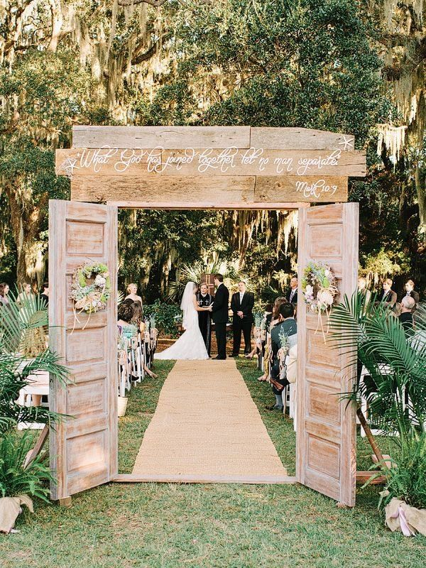 How To Build A Wedding Arch From Old Doors