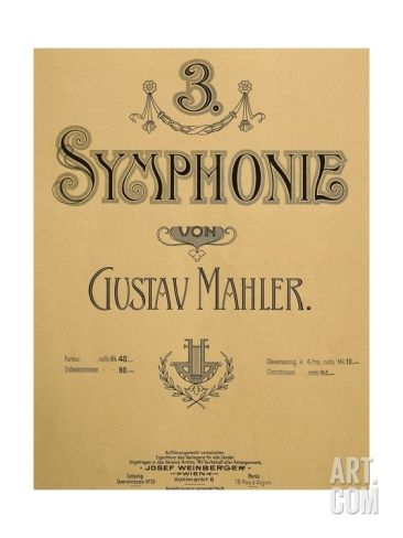 title page of score for symphony no 3 gustav mahlertitle