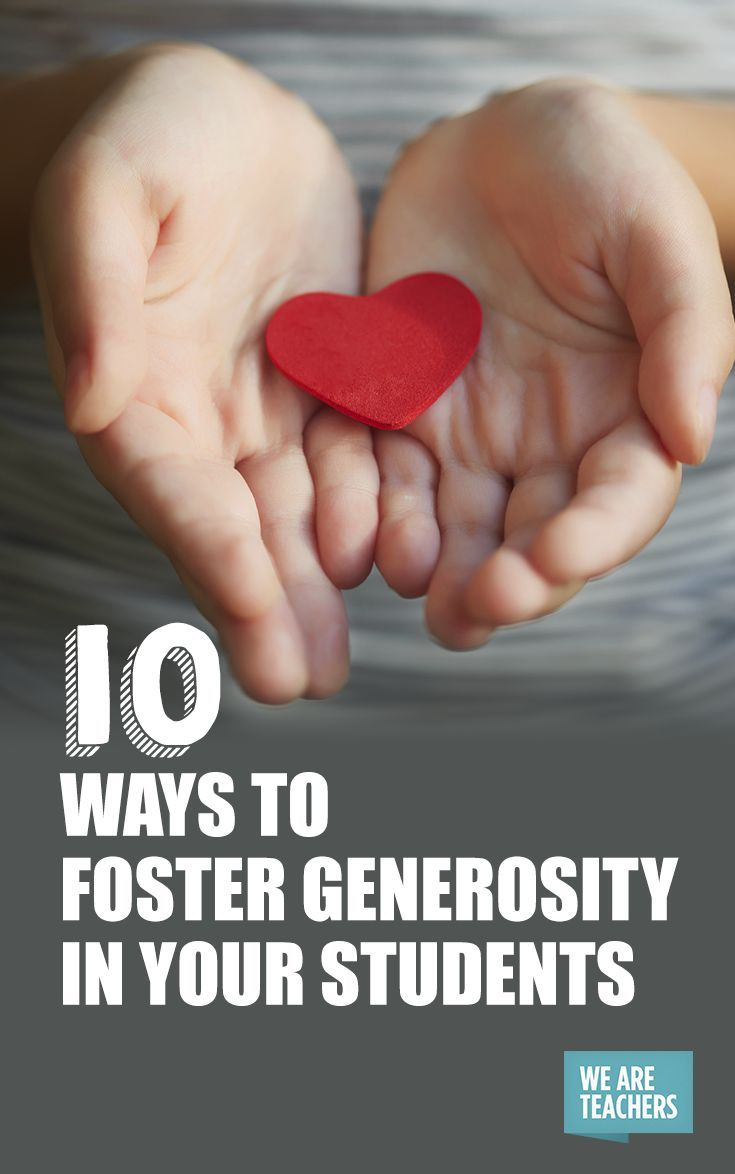 10 Ways to Foster Generosity In Your Students: Helping students feel empathy for others and respond with generosity is a trait that we as teachers can foster in our classrooms.  Here are some simple, fun classroom projects you can use to get the ball rolling.