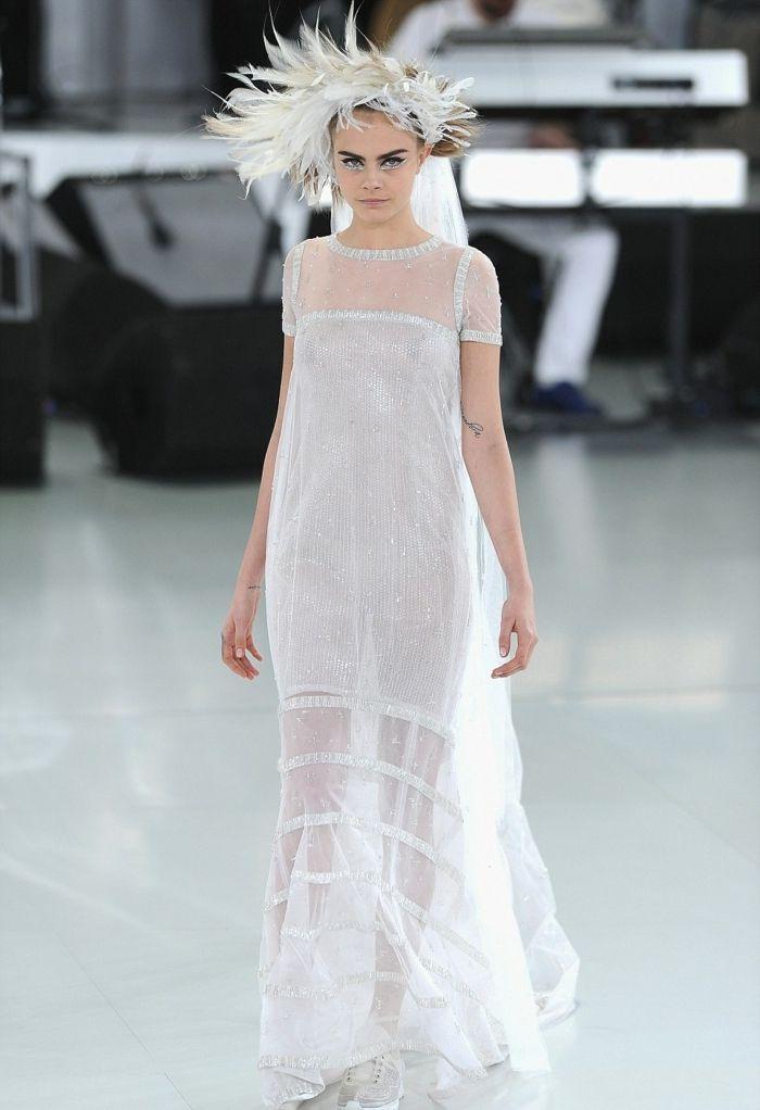 ausgefallene brautkleider haute couture designer hochzeitskleid chanel 2014
