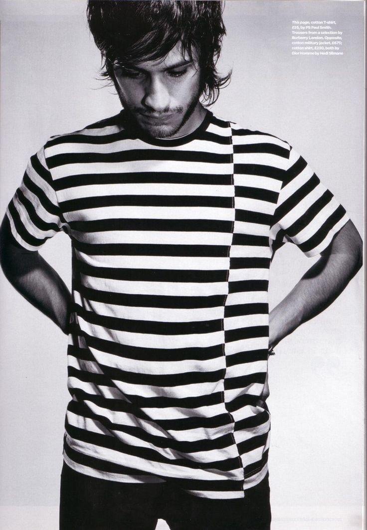 Gael Garcia Bernal. AND he's wearing a striped t-shirt... I have a weakness for men in striped T-shirts.