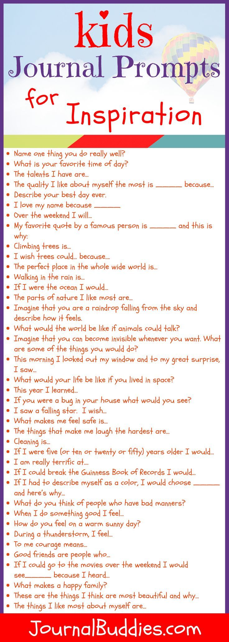 Writing ideas & journal prompts for kids homeschool Journal Prompts For Kids, Journal Topics, Writing Prompts For Kids, Kids Writing, Teaching Writing, Writing Activities, Writing Tips, Journal Ideas, Kindergarten Writing Prompts
