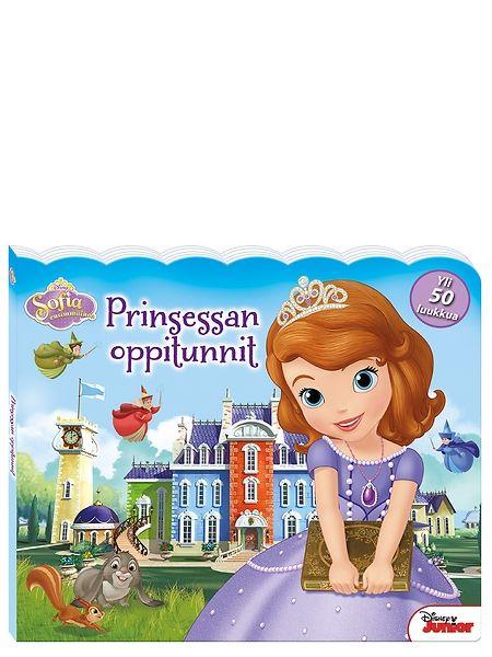 Sofia ensimmäinen, Prinsessan oppitunnit -luukkukirjassa  osallistutaan prinsessa Sofian kanssa kuvataiteen tunnille, piipahdetaan velho Henrikin työhuoneessa ja liidetään lentävän hevosen kyydissä kuningaskunnan yli. Samalla opetellaan värejä, muotoja ja numeroita.