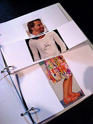 This could be a fun project with pre-cut clothes and some kind of pre- made 3 ring binder.: