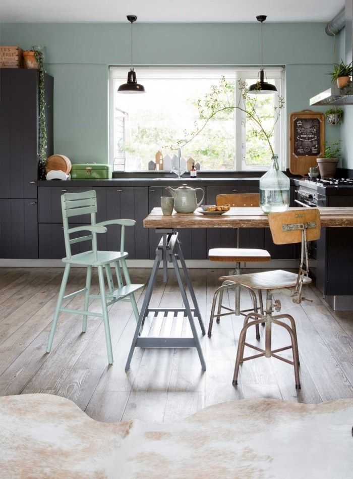 Colourful Kitchen Design, Green Walls, Beautiful Kitchen Inspiration,  Italianbark Interior Design Blog
