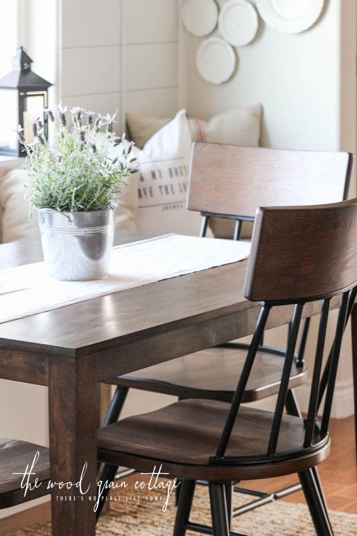 "I mentioned yesterday how much I've wanted to give our breakfast nook table a makeover. It's felt really ""orange"" to me lately, and that doesn't really work. When I found new chairs for the table, I finally had the push I needed.  I gave the table a makeover.  Really, the process was pretty simple. It... Read more"