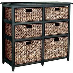 wood wicker dresser pier one - Google Search