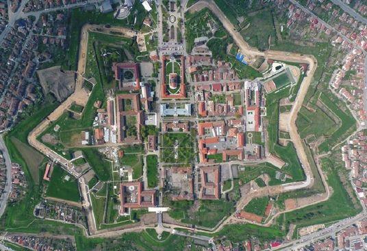 Alba Iulia citadel - Built in stellar shape. The only Vauban fortress in Romania!