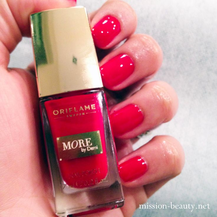 Mission Beauty: Haftanın Ojesi : Oriflame More by Demi Holly Red - Red Nails