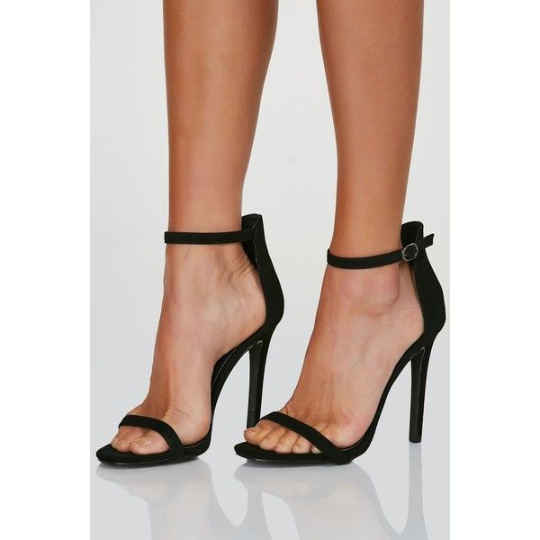 On Sleek Ankle Strap Pumps ($25) ❤ liked on Polyvore featuring shoes, pumps, ankle strap high heel pumps, high heel shoes, white and black pumps, ankle strap shoes and nude high heel shoes