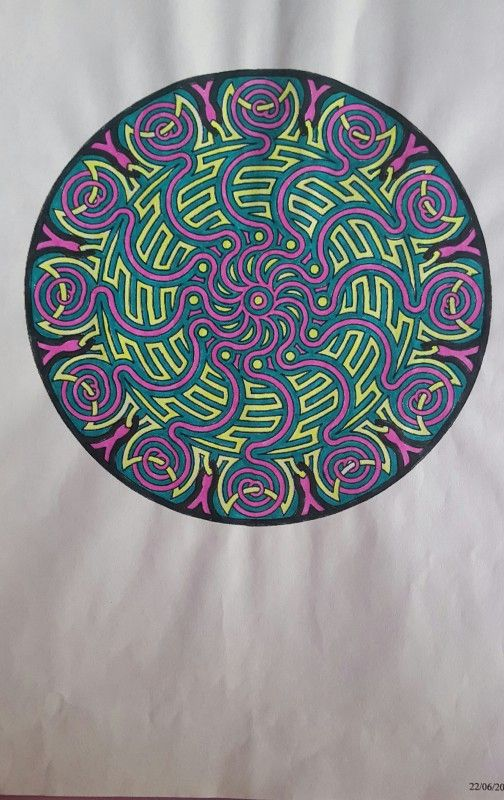 Creation by mimi17, coloring page from the gallery Mandalas