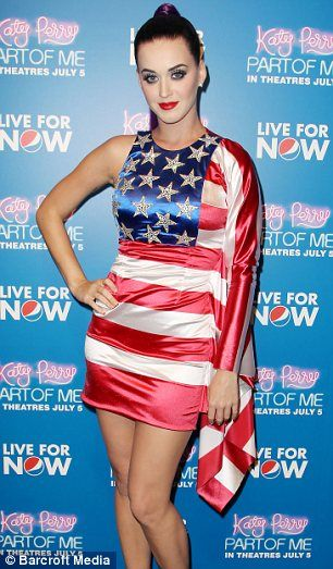 Katy Perry shows her patriotic side in American flag dress
